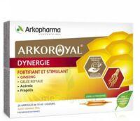 Arkoroyal Dynergie Ginseng Gelée royale Propolis Solution buvable 20 Ampoules/10ml à Libourne
