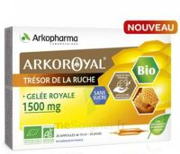 Arkoroyal Gelée royale bio sans sucre 1500mg Solution buvable 20 Ampoules/10ml à Libourne