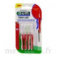 GUM TRAV - LER, 0,8 mm, manche rouge , blister 4 à Libourne