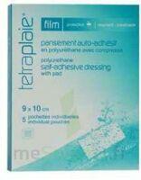 Tetraplaie Film Pansement adhésif stérile film PU 9x10cm B/5