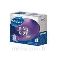 Manix King Size Préservatif Avec Réservoir Lubrifié Confort B/3 à Libourne